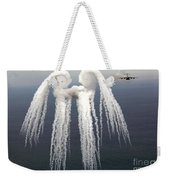 Smoke Angel Created By Wingtip Vortices Weekender Tote Bag by Photo Researchers