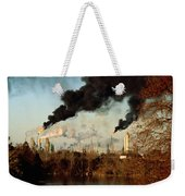 Smoke Billows From The Exxon Oil Weekender Tote Bag