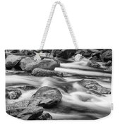 Smokey Mountain Stream Of Flowing Water Over Rocks Weekender Tote Bag