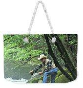 Smoky Mountain Angler Weekender Tote Bag