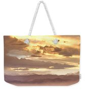 Smoky Sunset Over Boulder Colorado  Weekender Tote Bag