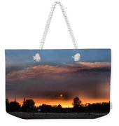 Smoky Sunset Wide Angle 08 27 12 Weekender Tote Bag