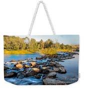 Smooth Rapids Weekender Tote Bag