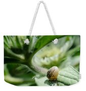 Snail On The Leaf Weekender Tote Bag