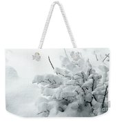 Snow Abstract 2 Weekender Tote Bag
