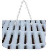 Snow Abstract 4 Weekender Tote Bag