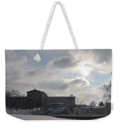 Snow At The Art Museum - Philadelphia Weekender Tote Bag