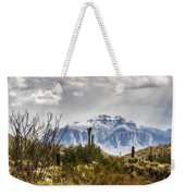 Snow Atop The Superstitions Weekender Tote Bag