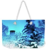 Snow Bow Weekender Tote Bag