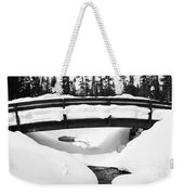 Snow Bridge In Canadian Rockies Weekender Tote Bag