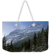 Snow Capped Mountain Weekender Tote Bag