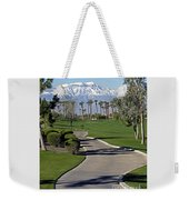 Snow Capped Mountains In The Desert Weekender Tote Bag