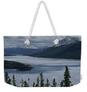 Snow-capped Moutains Rise Weekender Tote Bag