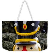 Snow Coverd Toy Soldier Weekender Tote Bag