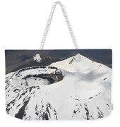 Snow-covered Ngauruhoe Cone, Mount Weekender Tote Bag