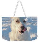 Snow Dog 0249 Weekender Tote Bag