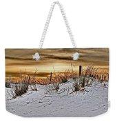 Snow Fence On Horizon Weekender Tote Bag