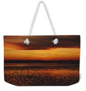 Snow Geese Come To Rest In Squaw Creek Weekender Tote Bag