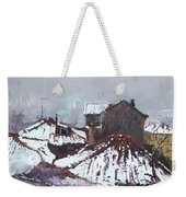 Snow In Elbasan Weekender Tote Bag