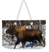 Snow Moose Weekender Tote Bag