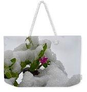 Snow On The Flowers Weekender Tote Bag
