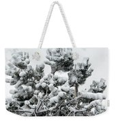 Snow On The Pines Weekender Tote Bag
