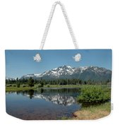 Snow Reflections Mt Tallac Weekender Tote Bag