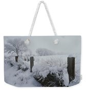 Snow, Rime Ice, And Fog Cover Weekender Tote Bag