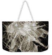 Snow Storm Abstract Weekender Tote Bag