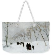 Snow Storm Weekender Tote Bag by Anton Mauve