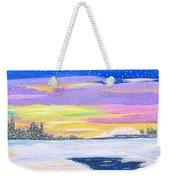 Snow Storm Weekender Tote Bag