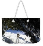 Snow Trail-under The Boughs Weekender Tote Bag