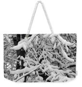 Snow Trees Weekender Tote Bag
