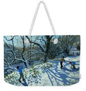 Snowball Fight Weekender Tote Bag
