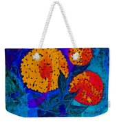 Snowball Plant Abstract 2 Weekender Tote Bag