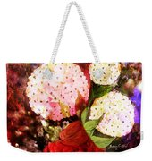 Snowball Plant Abstract 4 Weekender Tote Bag