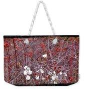 Snowberries And Rosehips Weekender Tote Bag