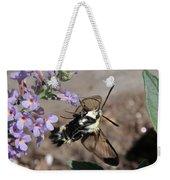 Snowberry Clearwing Moth Feeding Weekender Tote Bag