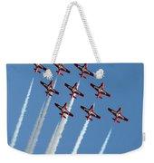 Snowbirds In The Big Diamond Formation Weekender Tote Bag