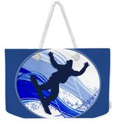Snowboarding And Snowflakes Weekender Tote Bag