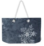 Snowflake In Blue Weekender Tote Bag