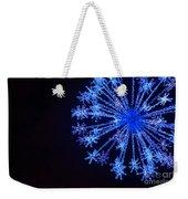 Snowflake Sparkle Weekender Tote Bag