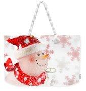 Snowman With Snowflakes  Weekender Tote Bag