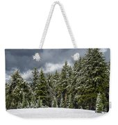 Snowstorm In The Cascades Weekender Tote Bag