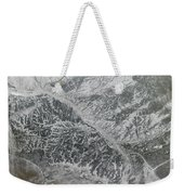 Snowy And Hazy Central Russia Showing Weekender Tote Bag