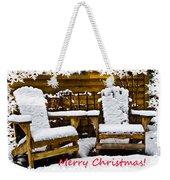 Snowy Coffee Holiday Card Weekender Tote Bag