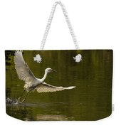 Snowy Egret Fishing In Florida Weekender Tote Bag