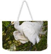 Snowy Egret In Breeding Plumage Weekender Tote Bag