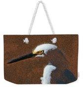 Snowy Egret Profile Painterly Weekender Tote Bag