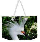 Snowy Egret With Breeding Plumage Weekender Tote Bag